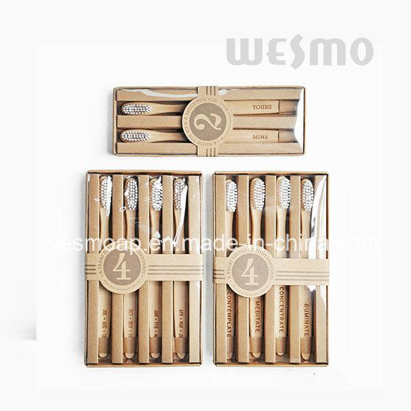 4-PC Set Eco-Friendly 803-Reflecion Carbonized Bamboo Toothbrush
