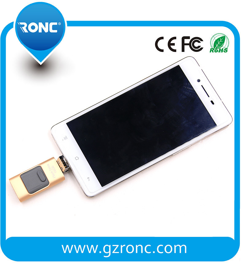 New Arrival 3in1 OTG USB Flash Disk for Mobile Phone