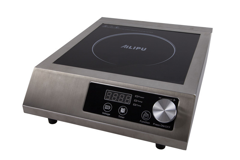 Stainless Steel Commercial Restaurant CE ETL C-ETL 120V, 240V 3500W 1800W induction stove for USA Spain Italy Russia Market