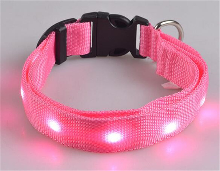 LED Flashing Pet Collor, Dog Tracking Collar, Single LED Light Collar