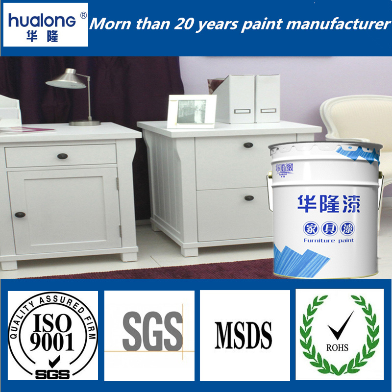 Hualong UV Roller Anti-Yellow Shinning White Furniture Paint