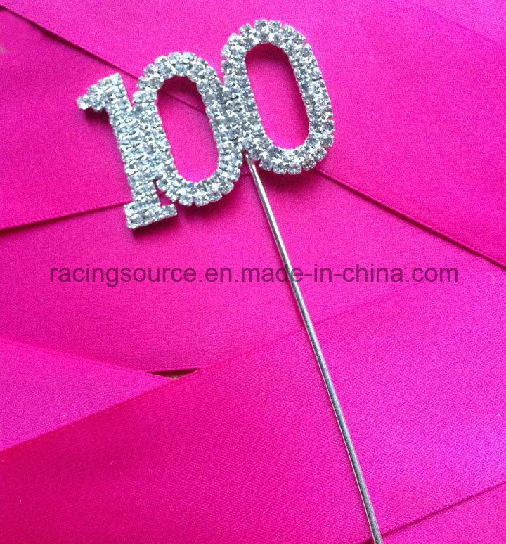 Rhinestone Numbers 1# to 100# on Pick Wedding Cake Topper