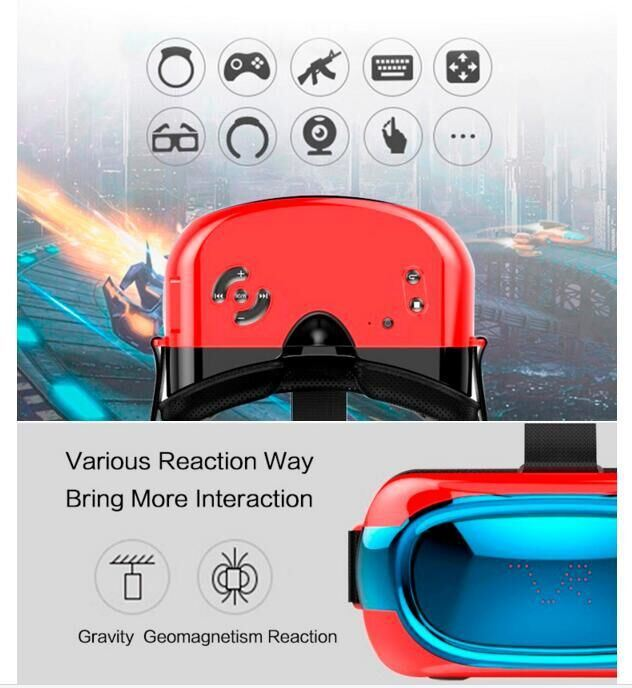 New Arrival Products 2016 Android 5.1 Vr Box Quad Core 3D Glasses Virtual Reality All in One Vr