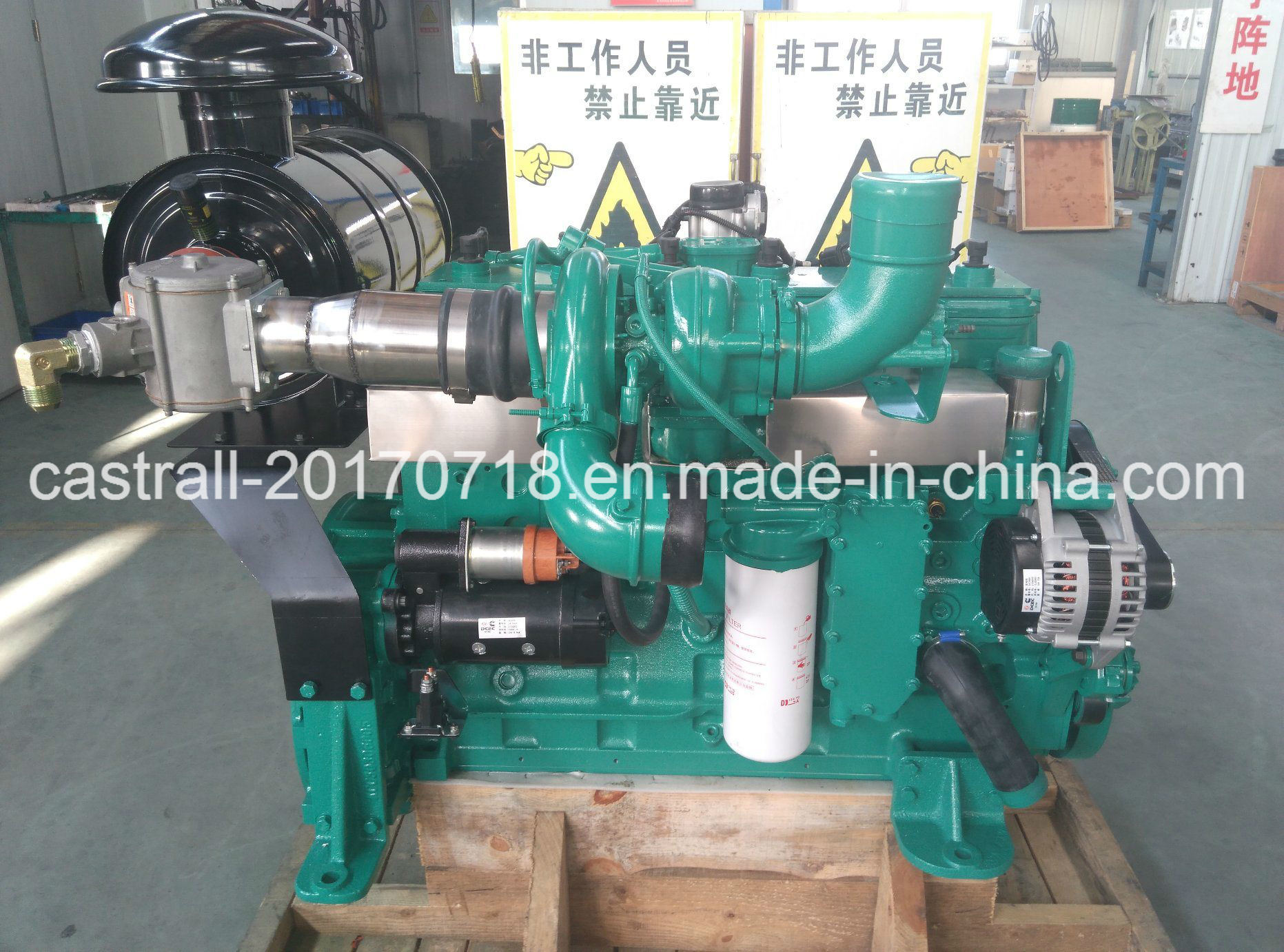 China 4 Stroke L8 9g G176 Hot Sale Gas Diesel Genset with Cummins