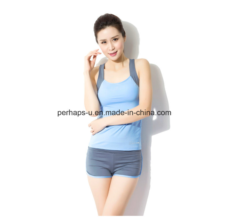 Splicing Quickly Dry Yoga Clothes Sport Vest Women Wear