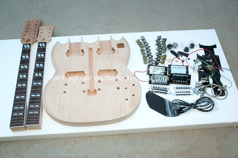 Hanhai Muisc / Double Neck Electric Guitar Kit / DIY Guitar