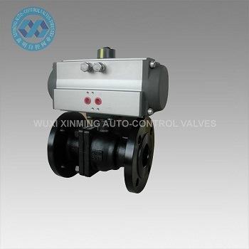 Stainless Steel/PVC/Wcb Pneumatic Actuator Ball Valve