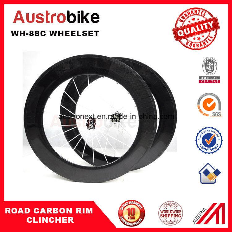 Carbon Wheels 50 mm Clincher for Road Bike Taiwan Hub Road
