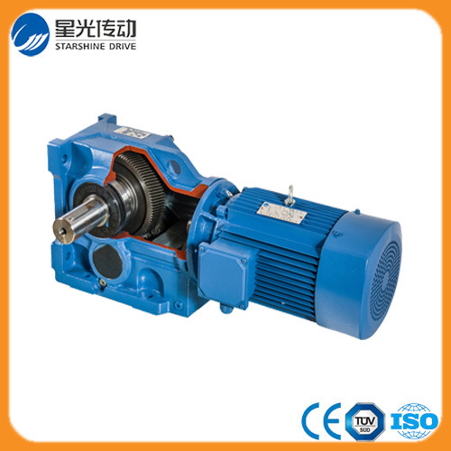 Helical K Series Bevel Speed Reducer Geared Motor, 3 Phase 7.5kw AC Helical Gear Box