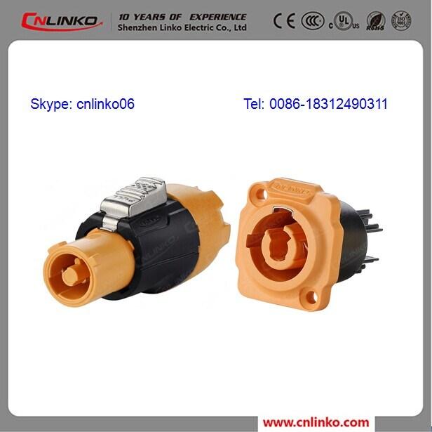 Cnlinko 3 Pins Waterproof IP65 Power Socket Powercon