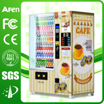 New Design Coffee Vending Machine with 4 Hot 4 Cold Dinks