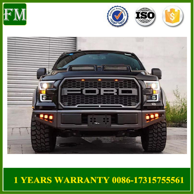 ABS Raptor Style Grille with LED Lights for 2015-2017 Ford