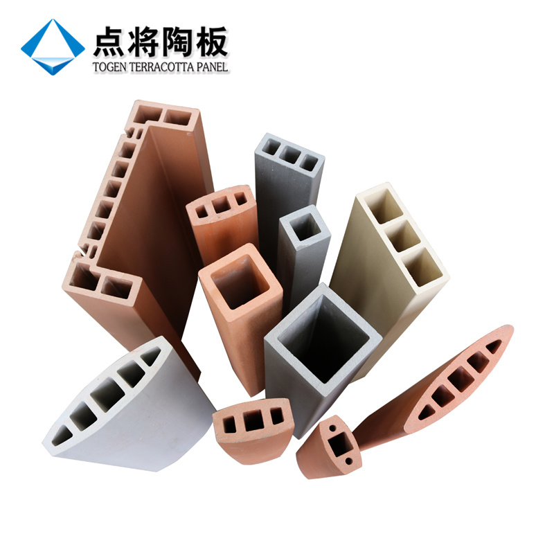 Terracotta Clay Louver with Natural Surface Facade Stick