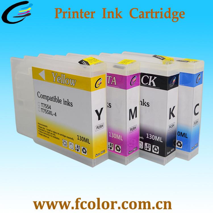 T755XL Ink Cartridges for Epson Workforce Wf-8010dw 8090dw Printer