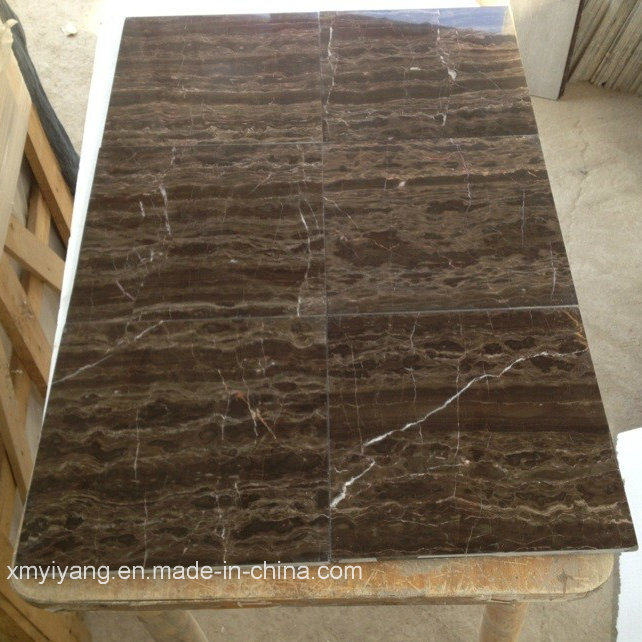 China Coffee Brown Marble Tiles for Wall, Countertop Photos & Pictures ...