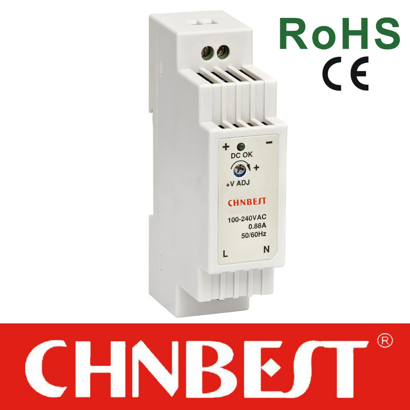 15W 12VDC Output DIN Rail Switching Power Supply with CE and RoHS (BDR-15-12)