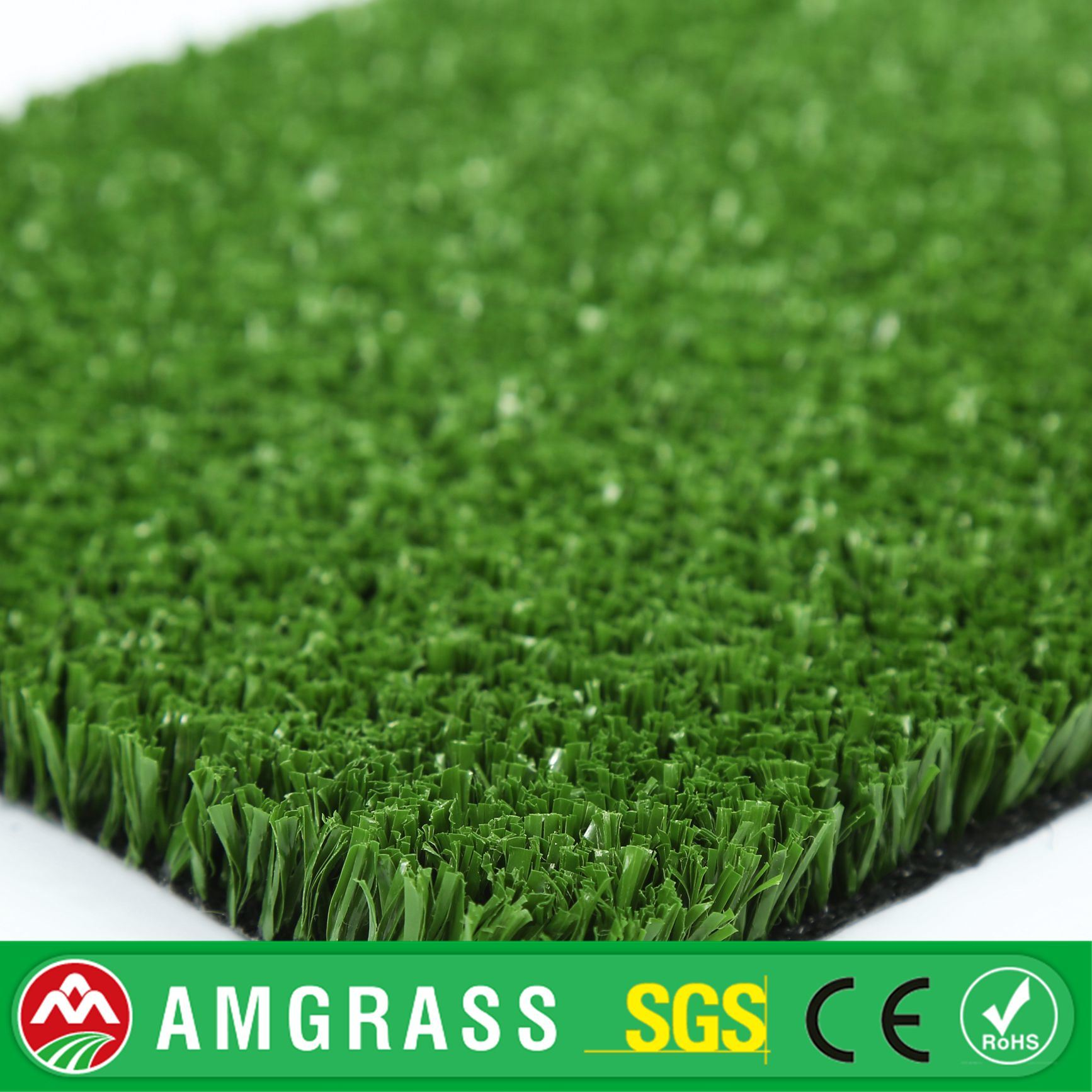 Green Color 15mm Professional Tennis Synthetic Grass