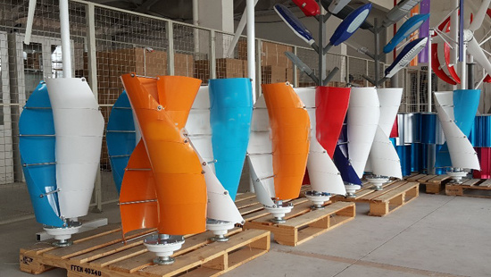 Made in China OEM Manufacture Small Wind Generator Wind Turbine 300W 400W Single-Bladed Maglev Design Vertical Axis