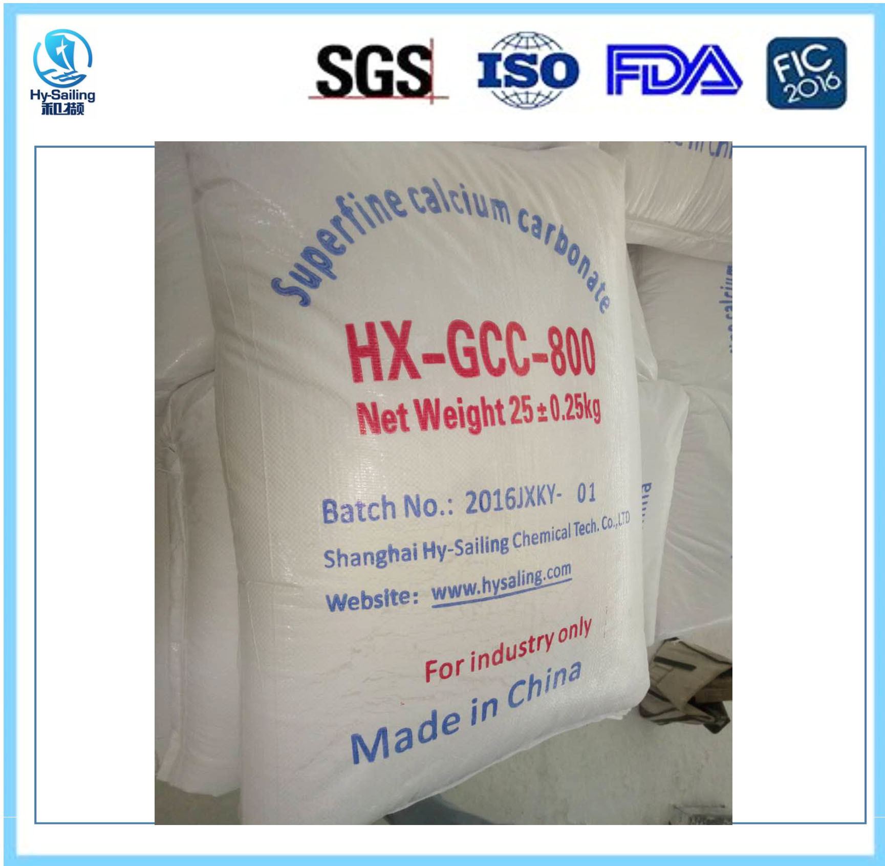 High White Heavy/Ground Calcium Carbonate Gc800