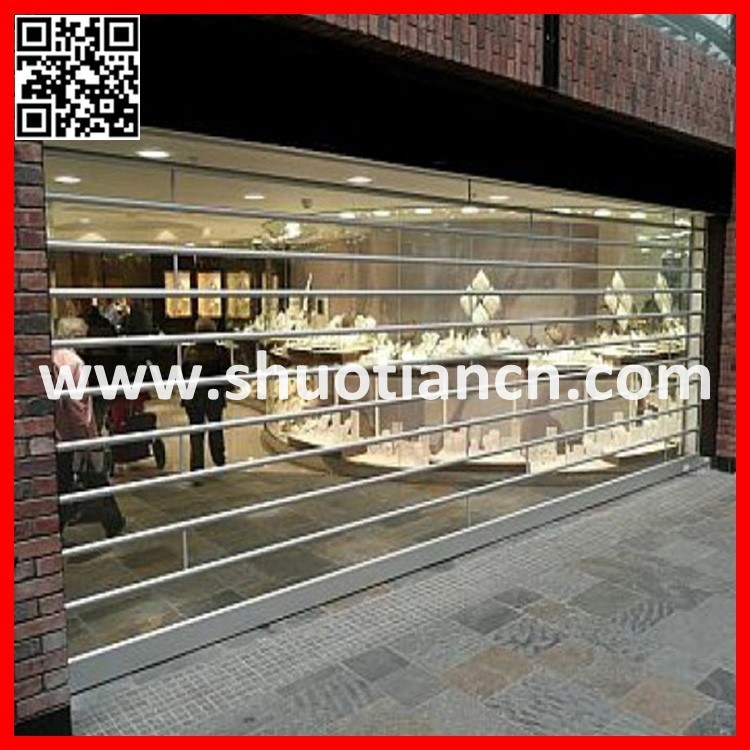 Commercial Transparent Polycarbonate Roller Shutter Doors (ST-002)