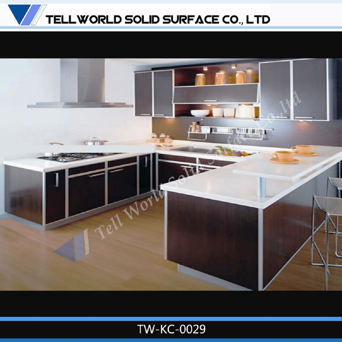 Customize Design Corian Quartz Counter Top or Kitchen Countertop