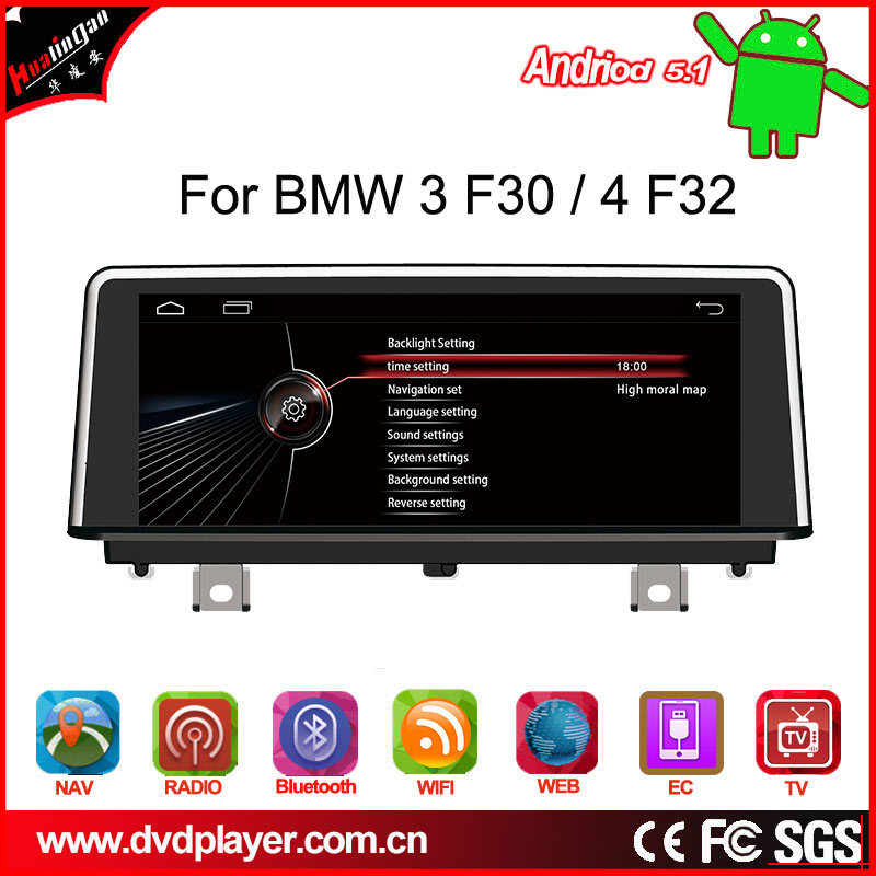 """Car MP3 Player 10.25""""Android4.4 Phone Connections for BMW 3/4/F30/F32 Radio GPS Navigatior OBD"""