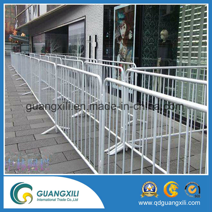 Galvanized Crowd Control Barriers for Directing Pedestrian Traffic