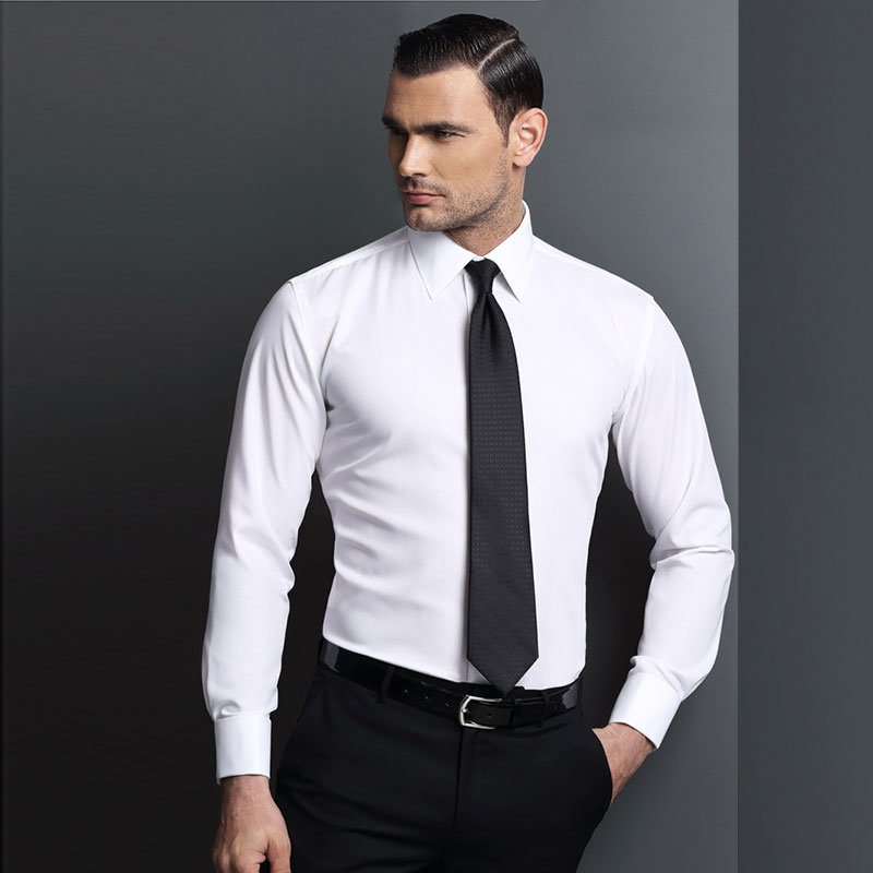 Men′s Fashion Long Sleeve Cotton Formal Business Shirt