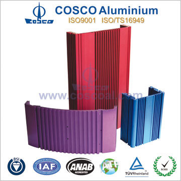Aluminum/Aluminium Profile Extrusion for Car Amplifier Enclosure with ISO9001 Certificated