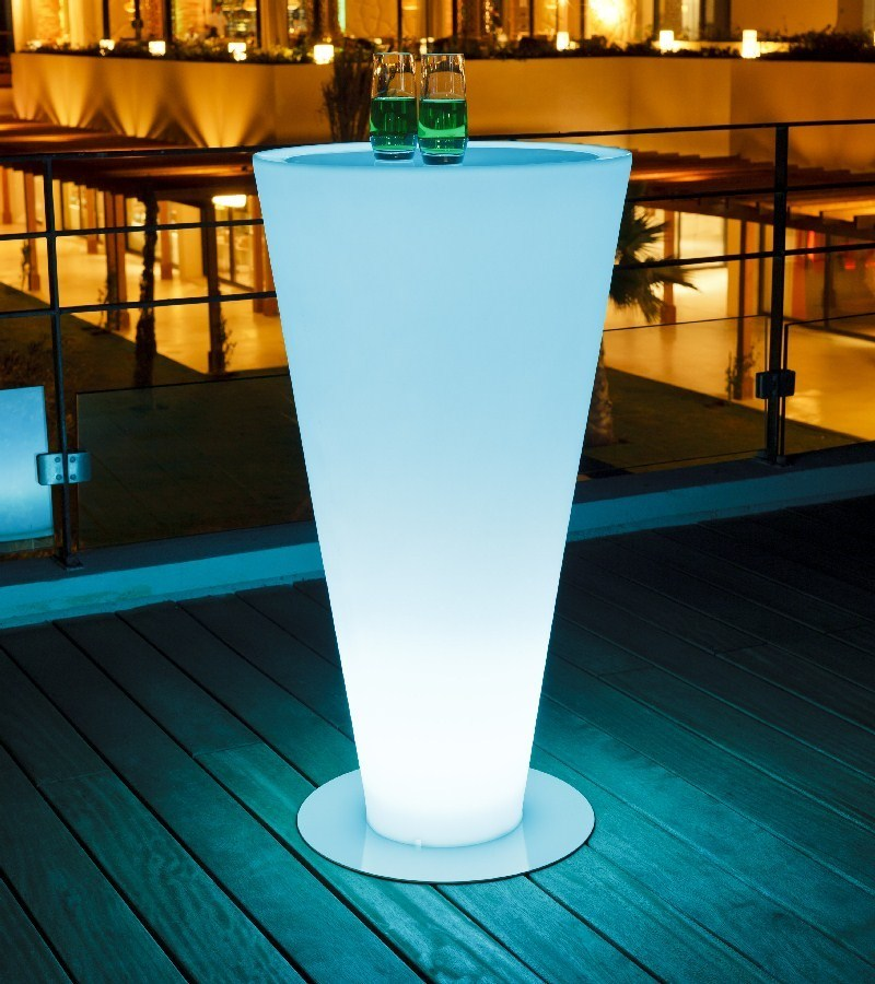 China modern led table high cocktail table with light for Cocktail tables led