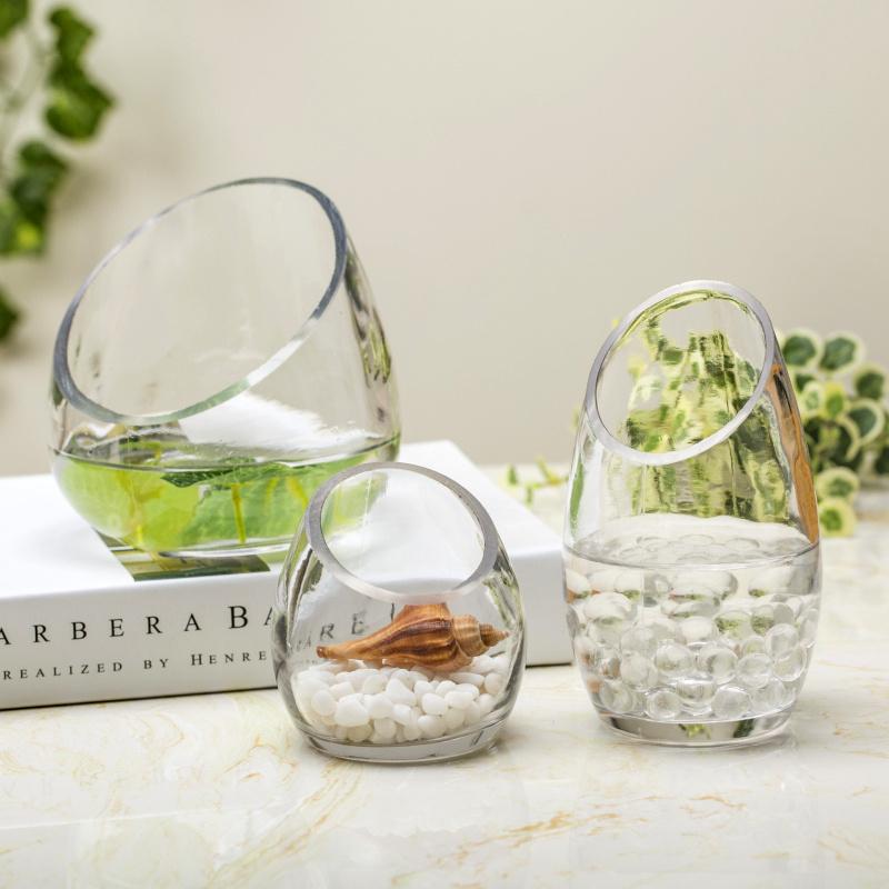 Wholesale Transparent Crystal Glass Vase /Flower Vase