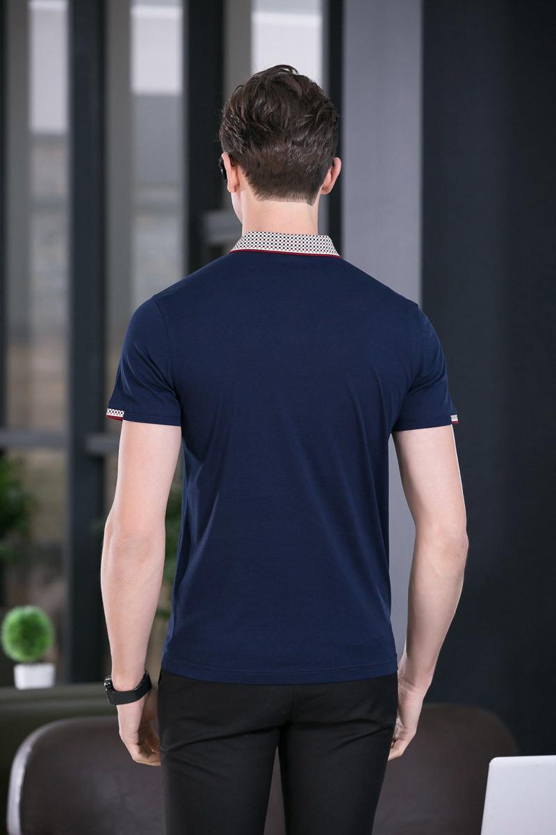 New Design Solid Color Men′s Short Sleeve Polo Shirt Slim Shirt for Men Tee Tops