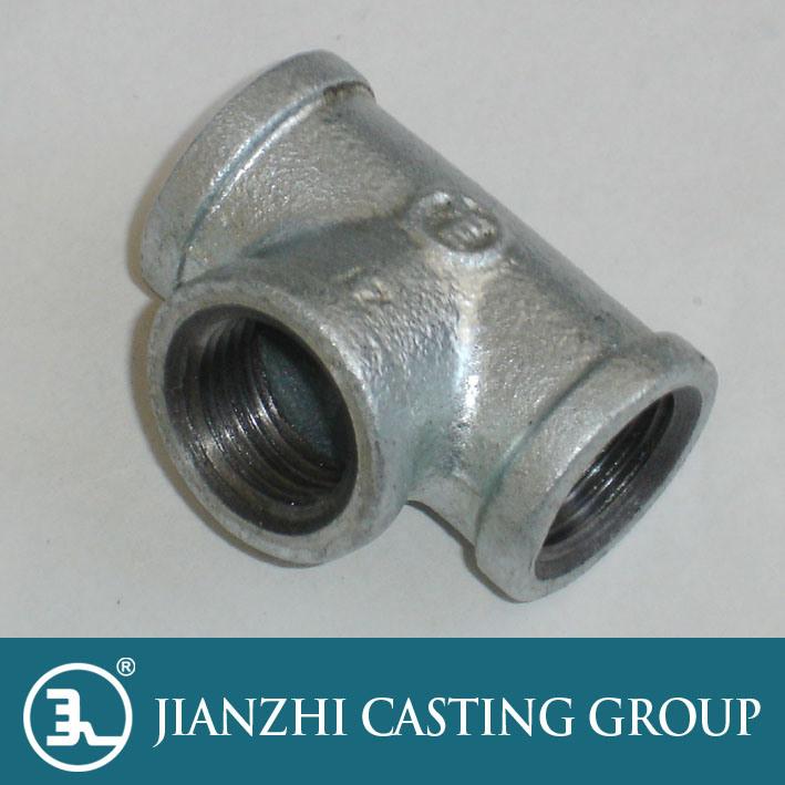 Galvanized Malleable Iron Tee Fitting