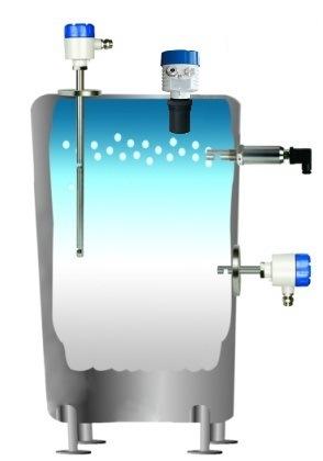 LCD Ultrasonic Level Transmitter 24VDC