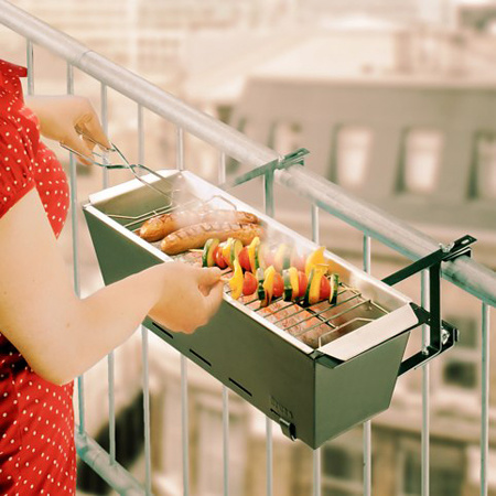 Portable Grill, Balcony Hanging BBQ Grill