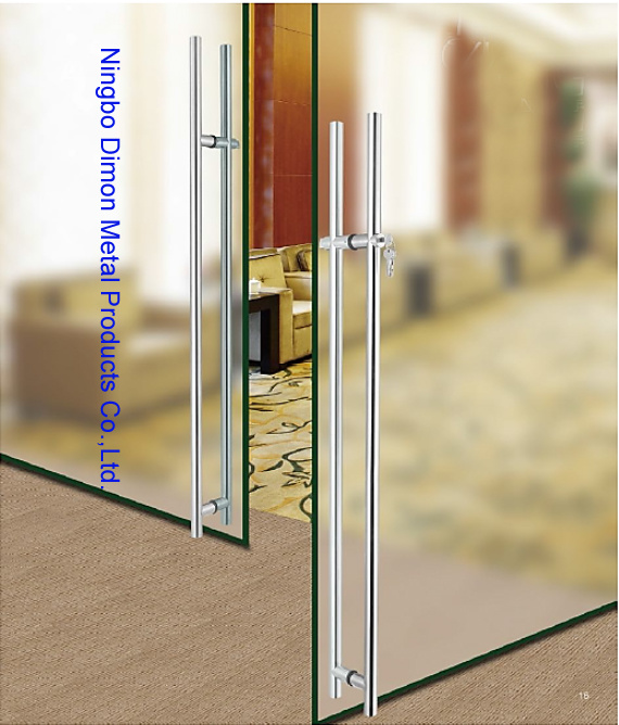 Dimon H Type Stainless Steel Glass Door Handle with Lock Dm-DHL 033