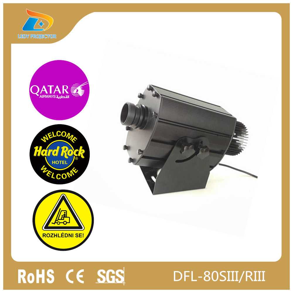 China Cheap Price 4 Images 80W LED Logo Gobo Projector Lamp