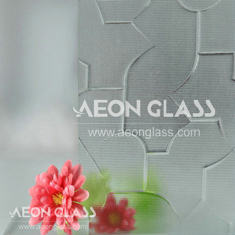 3mm, 3.5mm, 4mm, 5mm, 6mm Clear Karatachi Glass, Karatachi Figured / Patterned Glass Karatachi Glass