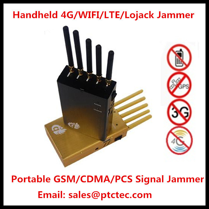 Powerful Handheld Signal Jammer Cellphone Jammer Mobile Jammer for GPS WiFi/4G/3G/2g