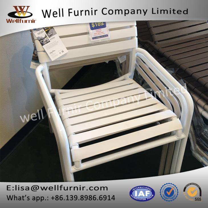 Well Furnir WF-17032 Vinyl Straps Garden Chair