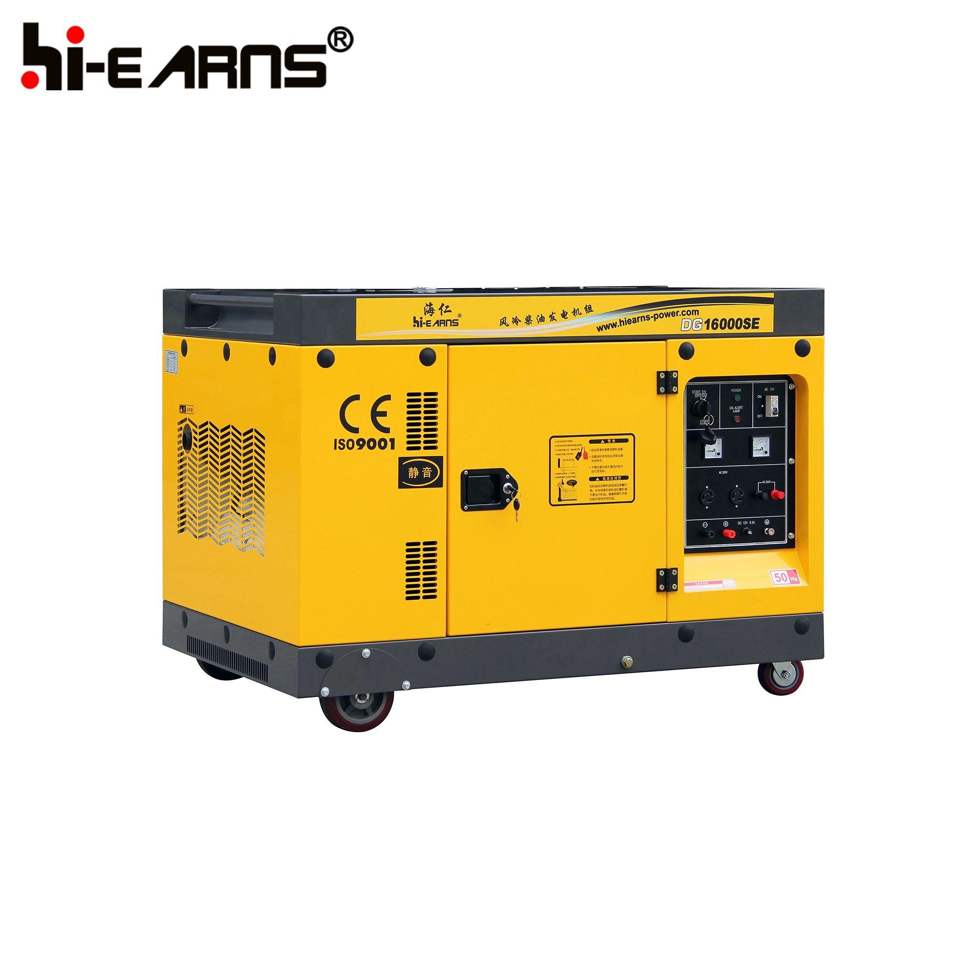 China 12kw Air Cooled Two Cylinder Diesel Generator Set DG SE