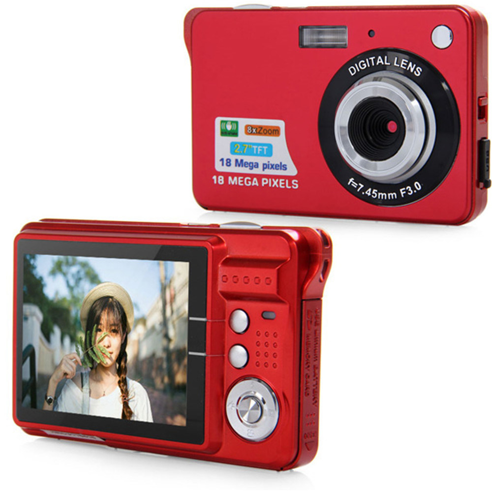 Ultra-Thin 720 HD 16 Mega Pixels Digital Selfie Pocket Camera