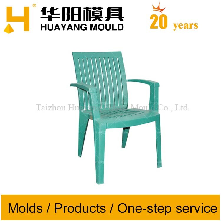 Plastic Striped Chair with Arm Mould (HY007)