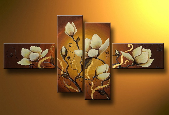Flowers Oil Pianting with Frame