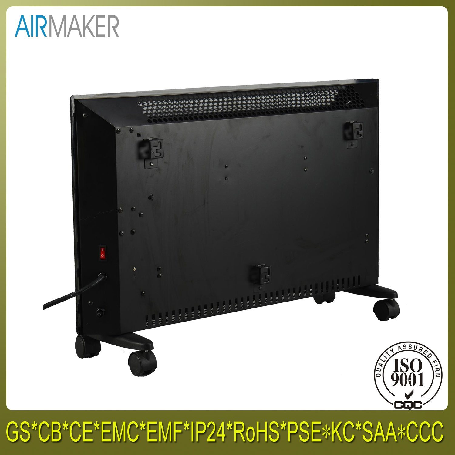 New Portable Room Glass Panel Convector Heater with Ce/CB/GS Approved