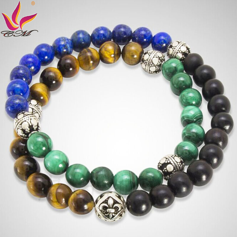 SMB001 Classical Raw Semi Precious Stones Bracelet