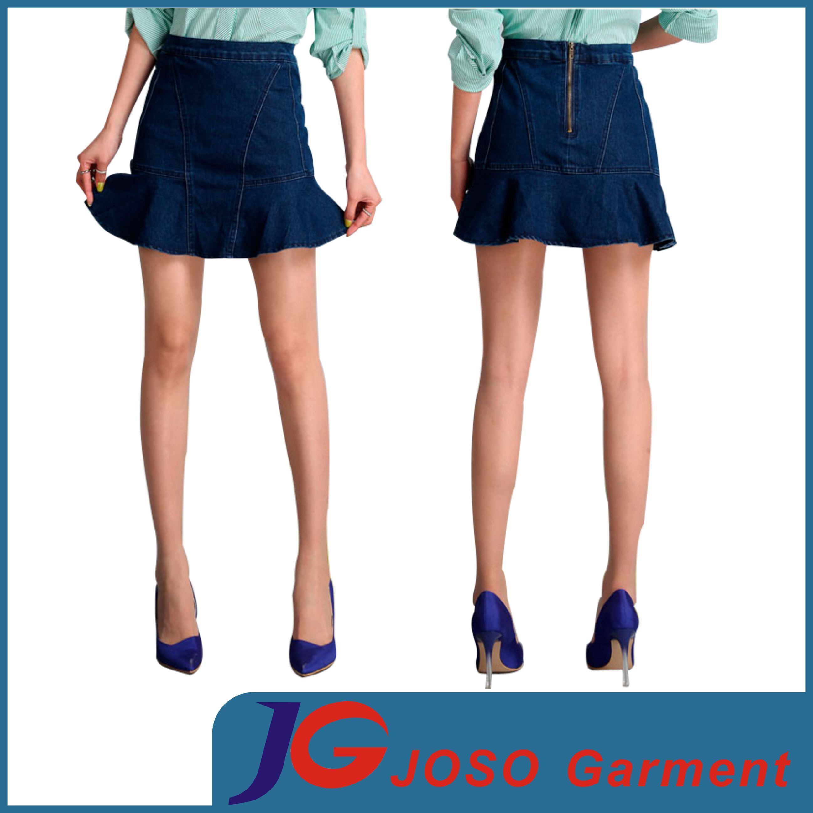 Women Denim Flare Skirts (JC2089)