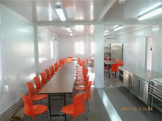 prefab canteen/portable canteen for school/mining site/military
