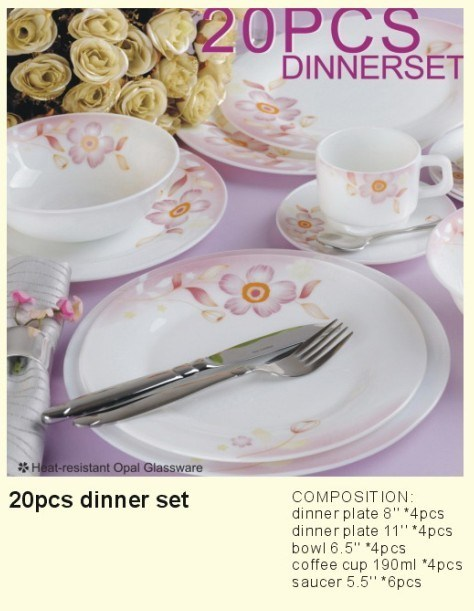 Opal Glass Dinner Set