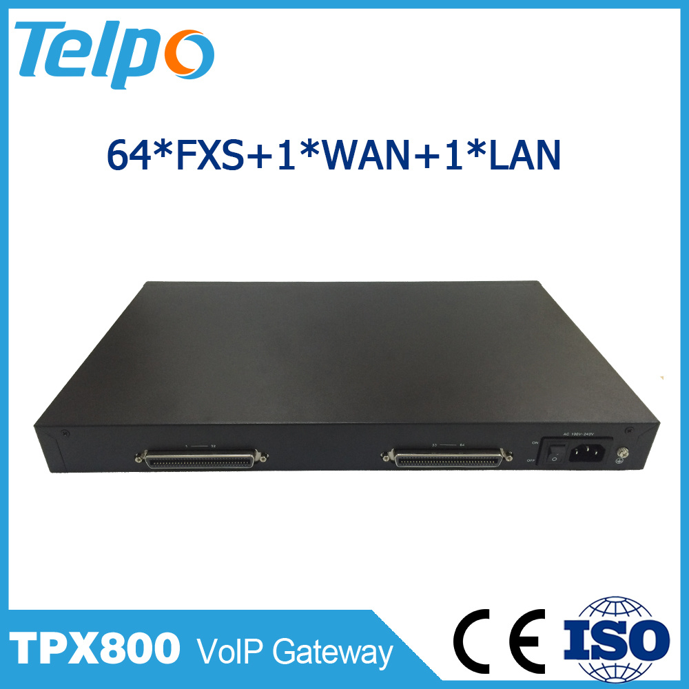 China Supplier Support DHCP Nat 64 FXS/FXO Port VoIP Gateway